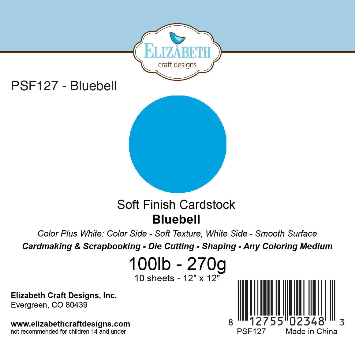 Soft Finish Cardstock, Bluebell