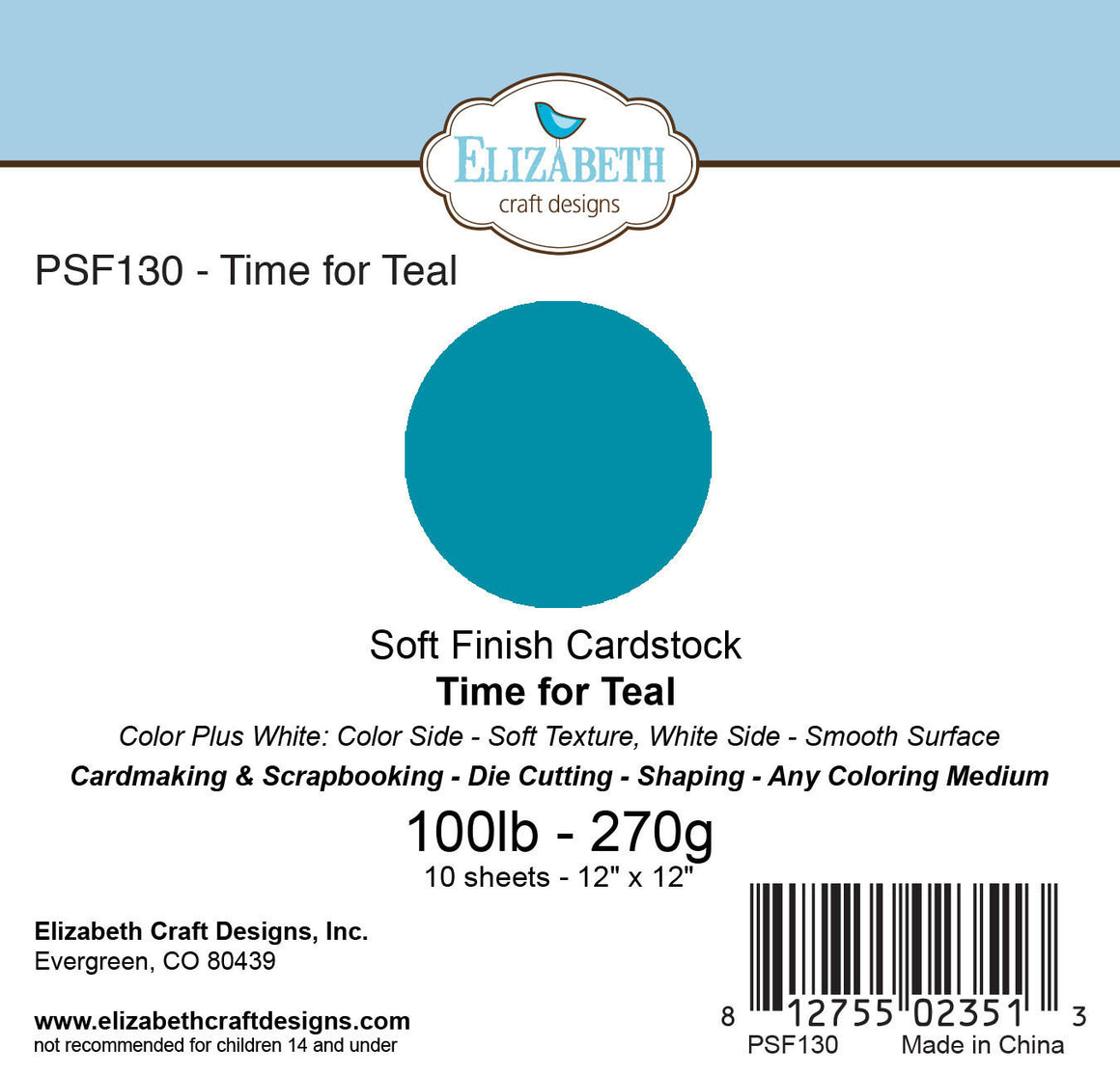 Soft Finish Cardstock, Time for Teal