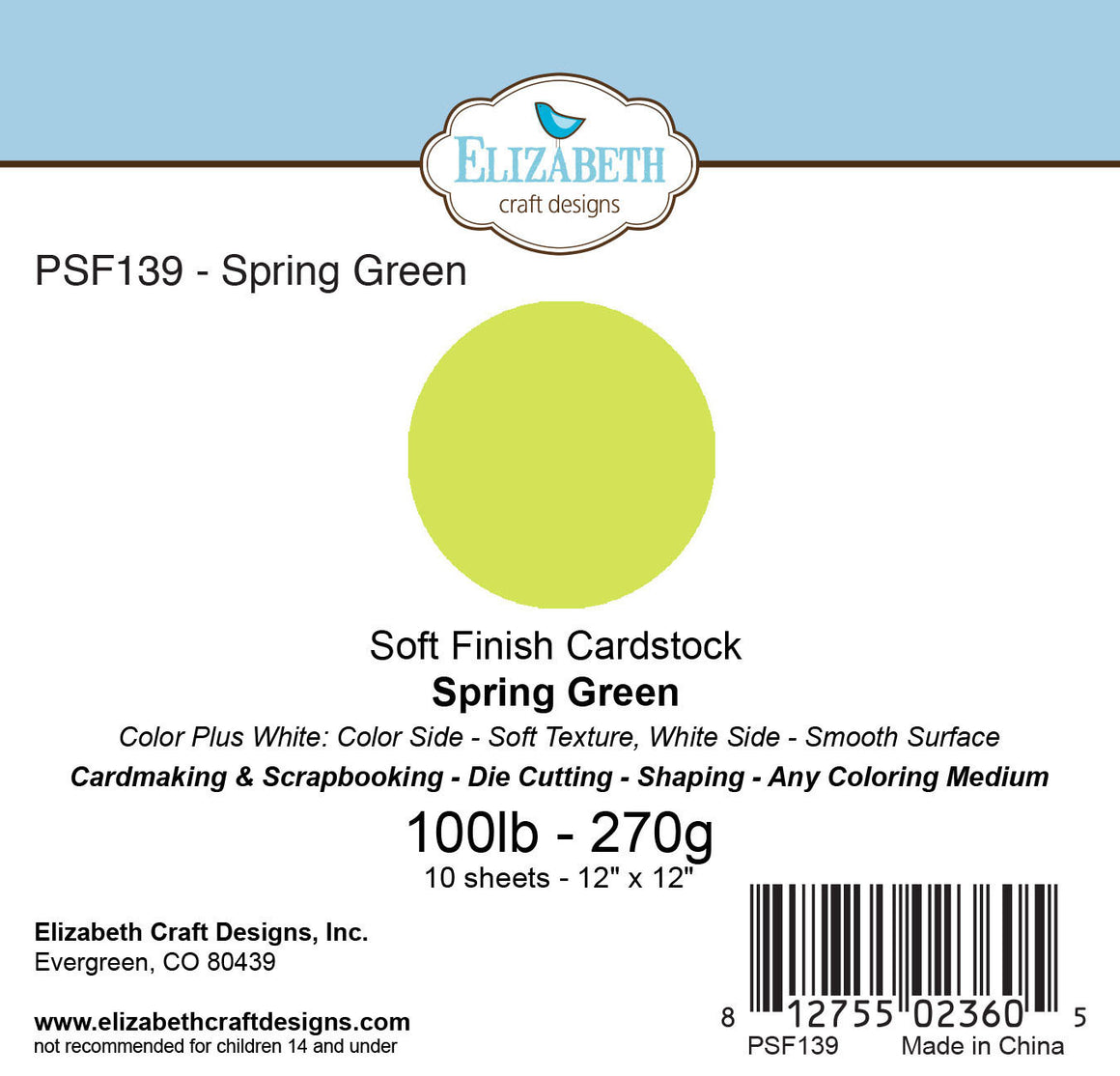 Soft Finish Cardstock, Spring Green