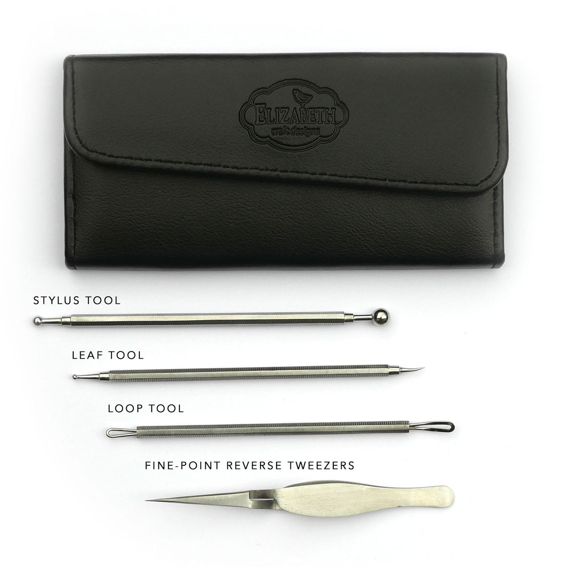 Susan's Garden 4pcs. All metal Tool Set in Luxury Case