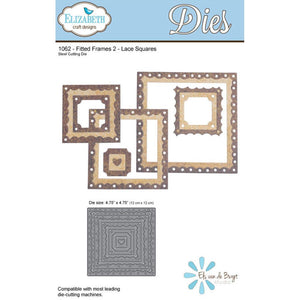 Fitted Frames 2 Lace Squares - Die - ElizabethCraftDesigns.com