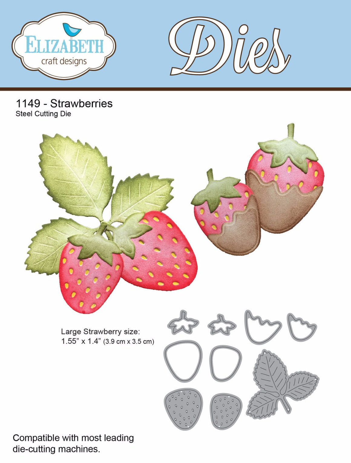 Strawberries - Die - ElizabethCraftDesigns.com