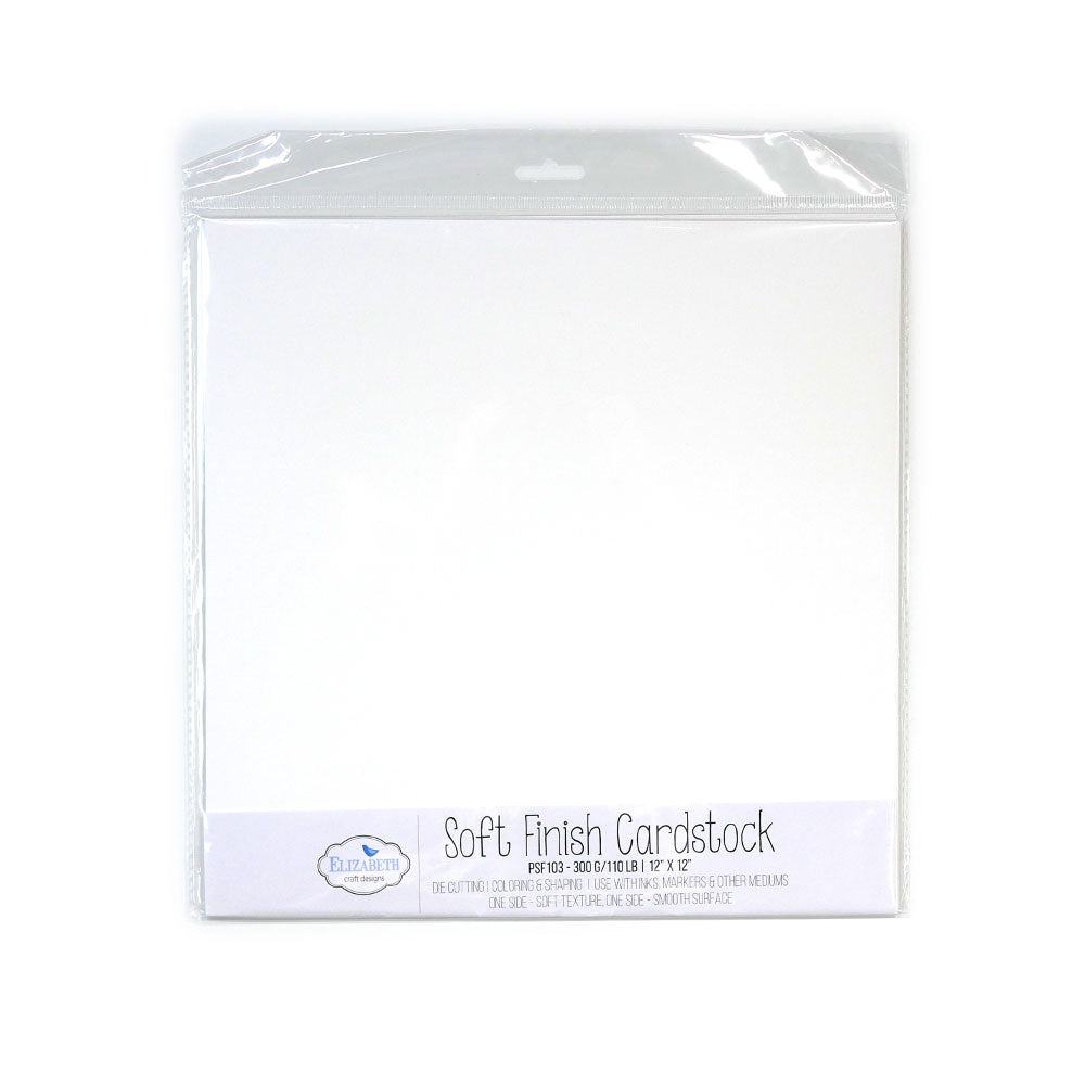 "Soft Finish Cardstock - 12"" x 12"" - 300G/110LB - 10 Pack"