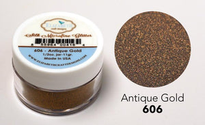 Antique Gold - Silk Microfine Glitter - ElizabethCraftDesigns.com