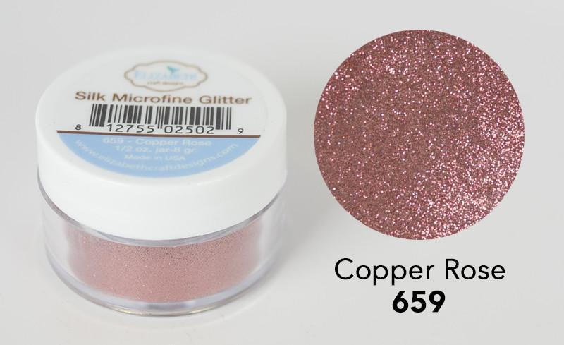 Copper Rose - Silk Microfine Glitter - ElizabethCraftDesigns.com