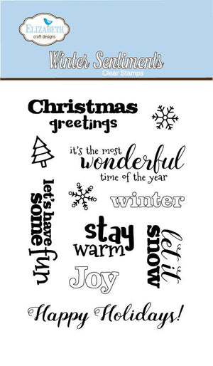 Winter Sentiments - Stamps - ElizabethCraftDesigns.com