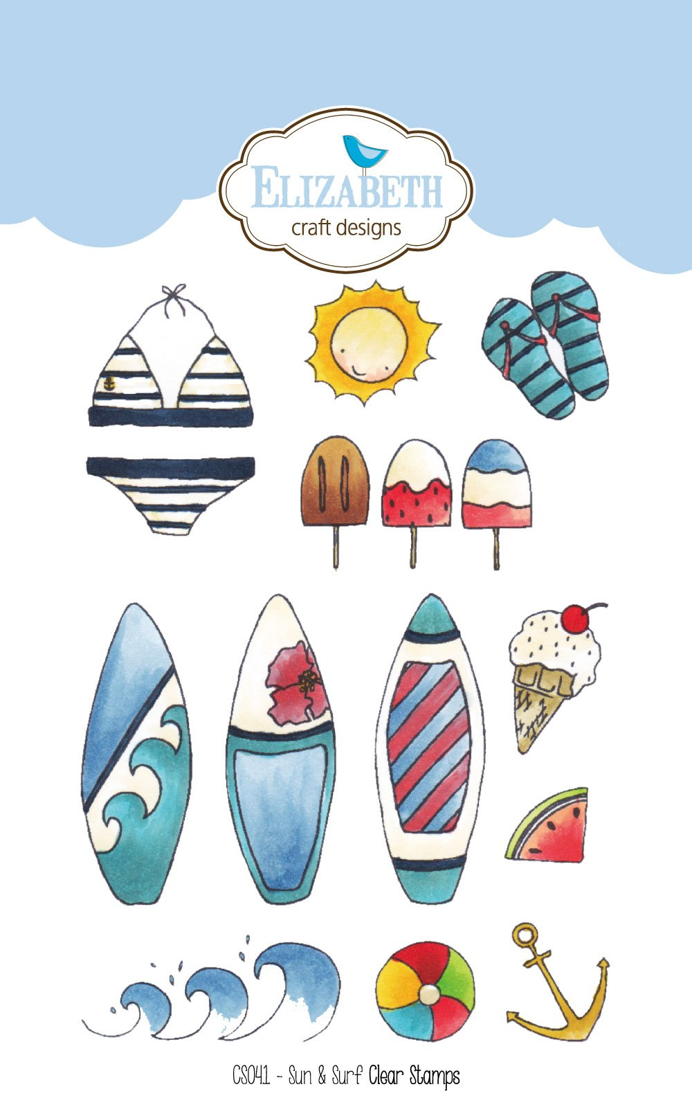 Sun & Surf - Clear Stamps