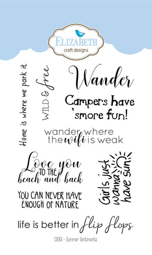 Summer Sentiments - Clear Stamps