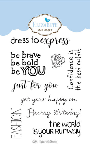 Fashionable Phrases - Clear Stamps