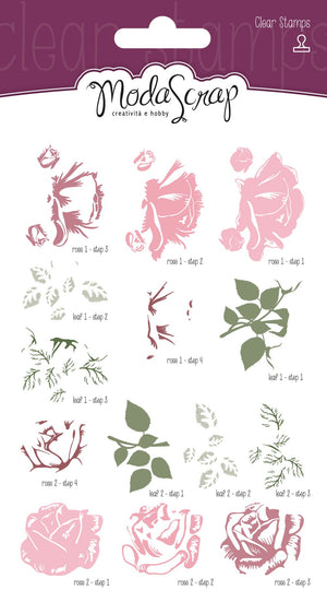 Sweet Vintage Rose - Clear Stamps