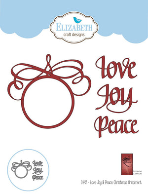 Love Joy & Peace Christmas Ornament