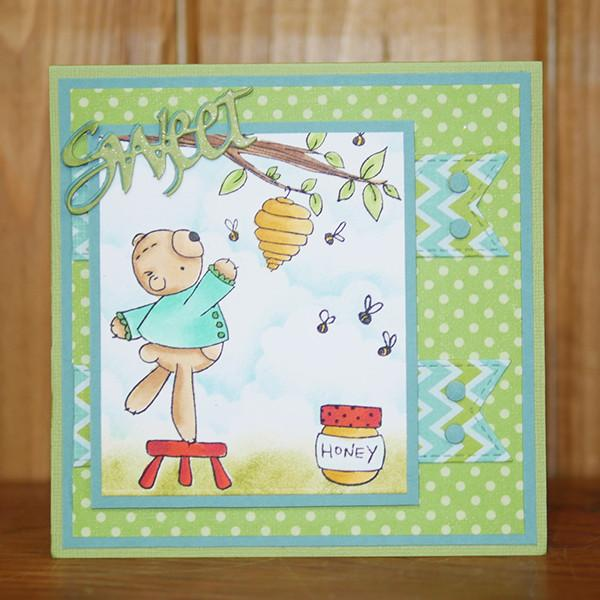 Honey Bear Clear Stamps - Stamps - ElizabethCraftDesigns.com