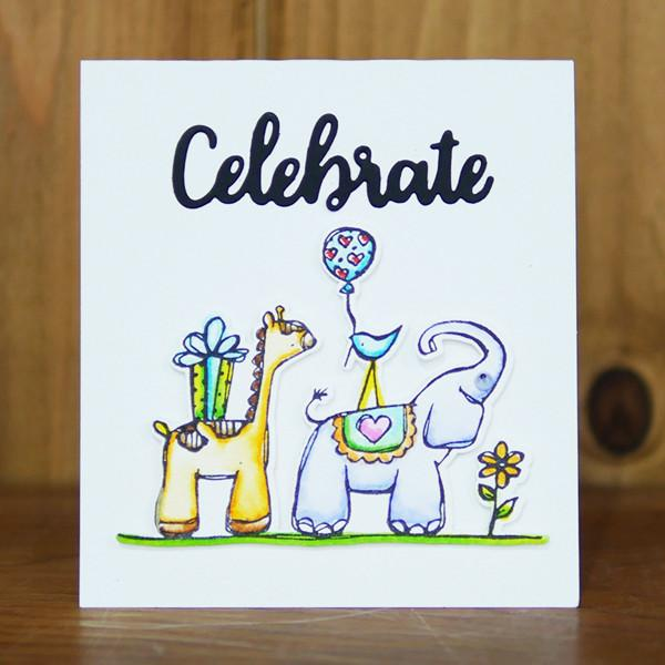 Zoo Babies Clear Stamps - Stamps - ElizabethCraftDesigns.com