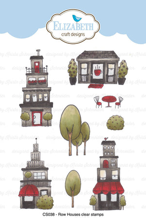 Row Houses Clear Stamps - Stamps - ElizabethCraftDesigns.com