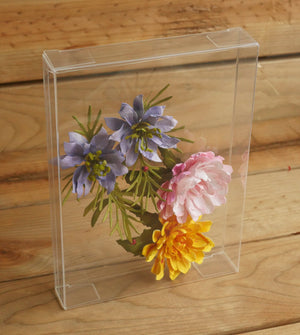 "4 7/8"" x 1"" x 6 5/8"" Clear Box - 10 Pack"