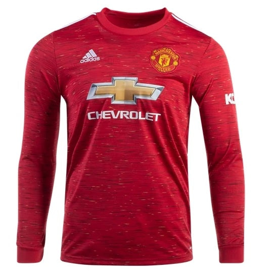 Men's Manchester United 20/21 LS Home Replica Jersey