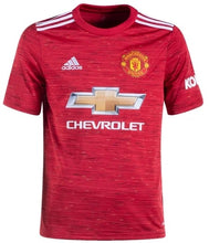 Load image into Gallery viewer, Youth Manchester United 20/21 Home Replica Jersey