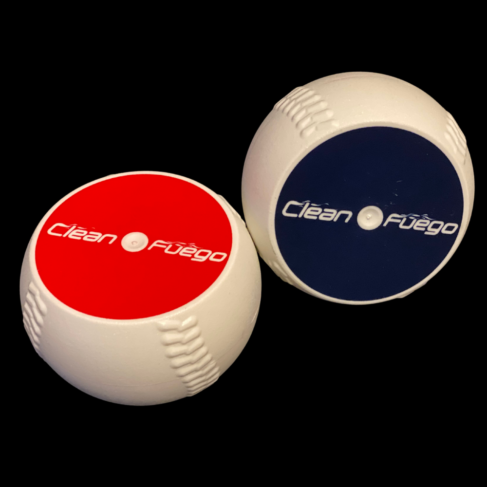 Set of Regulation and Overweight CleanFuego plastic baseball throwing training aid