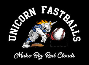 A 60/40 poly-cotton blended t-shirt with the CleanFuego Unicorn Fastball. This FUEL CHUCKIN' ANIMAL is perfect for the gym, in class, at the field or just lounging around