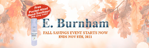 Fall Savings Event Starts Now - Free Pocket Sized Hand Sanitizer w/Every Order - Sale Ends November 8th, 2021