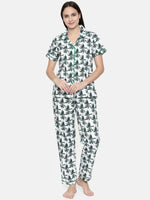 Load image into Gallery viewer, C762-Women Floral Printed Night suit