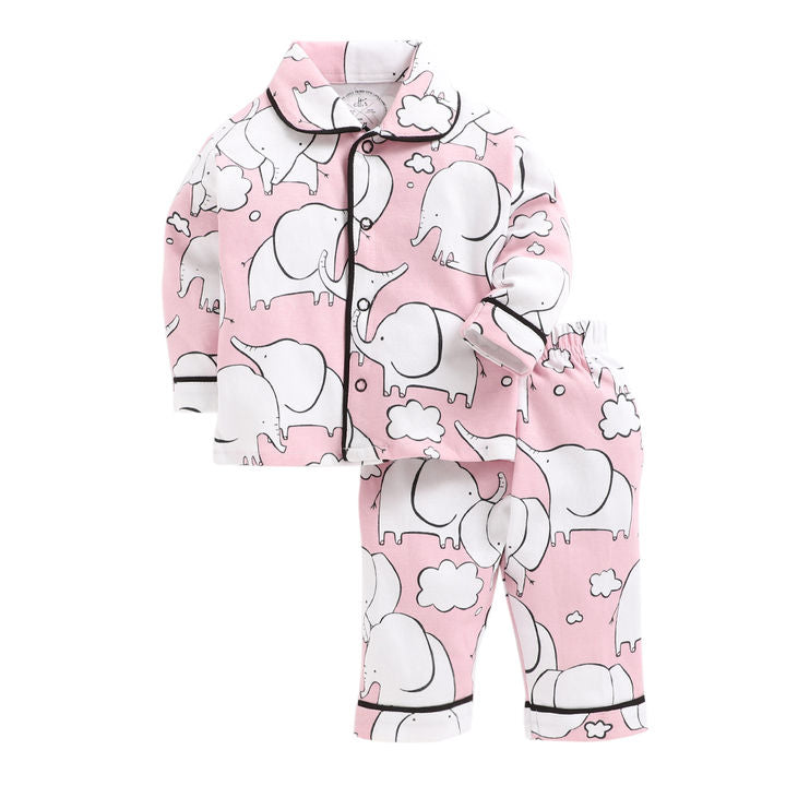 CNB046-Baby Elephant Print Night Suit