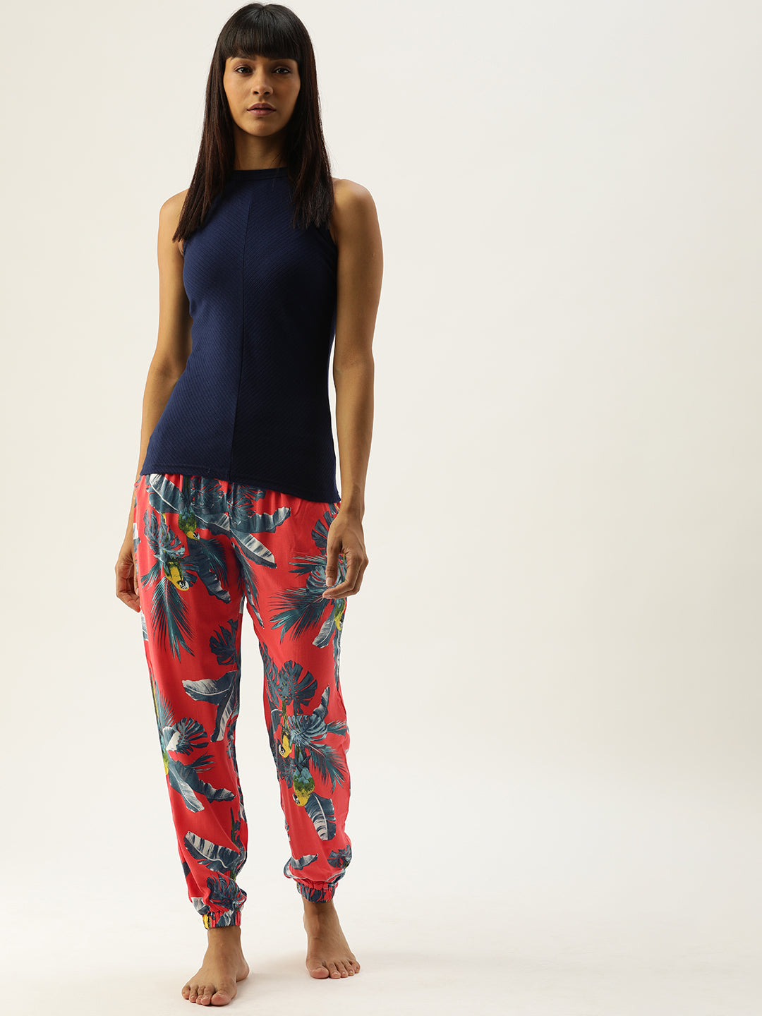 C911 Women Floral Printed Joggers