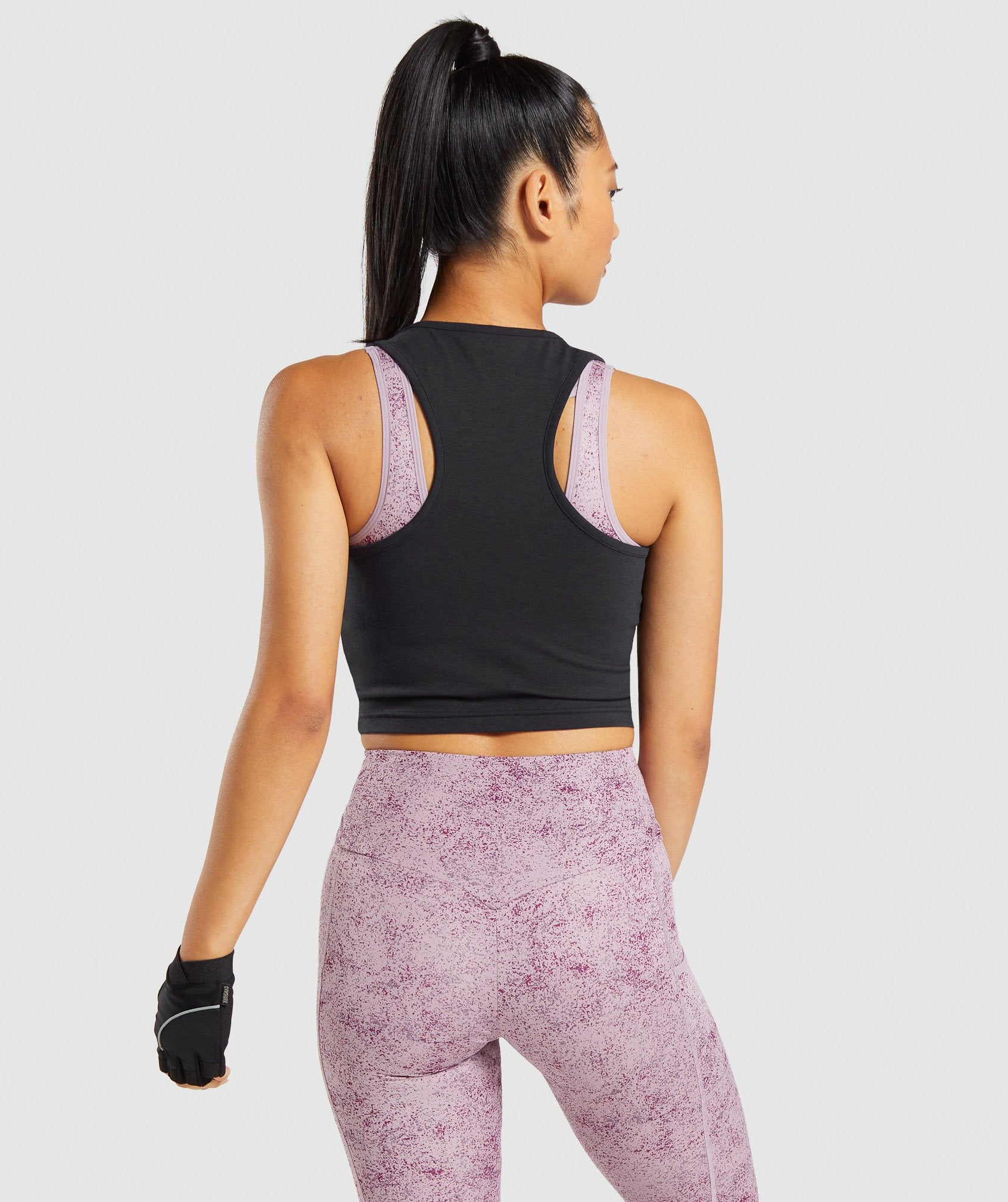 Classier: Buy Gymshark Chalk Graphic Crop Vest - Black - Gymshark