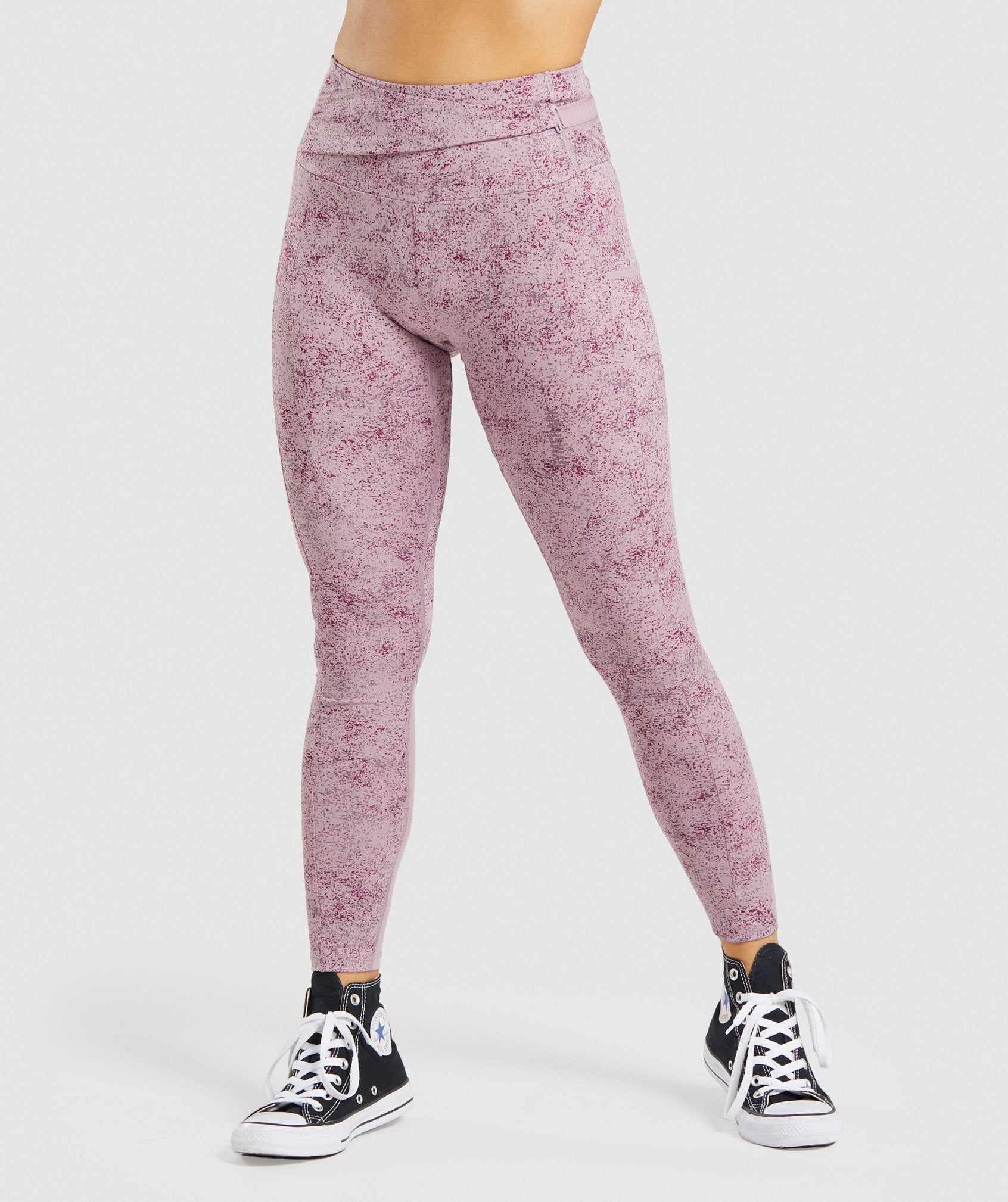 Classier: Buy Gymshark Chalk Leggings - Purple Print - Gymshark