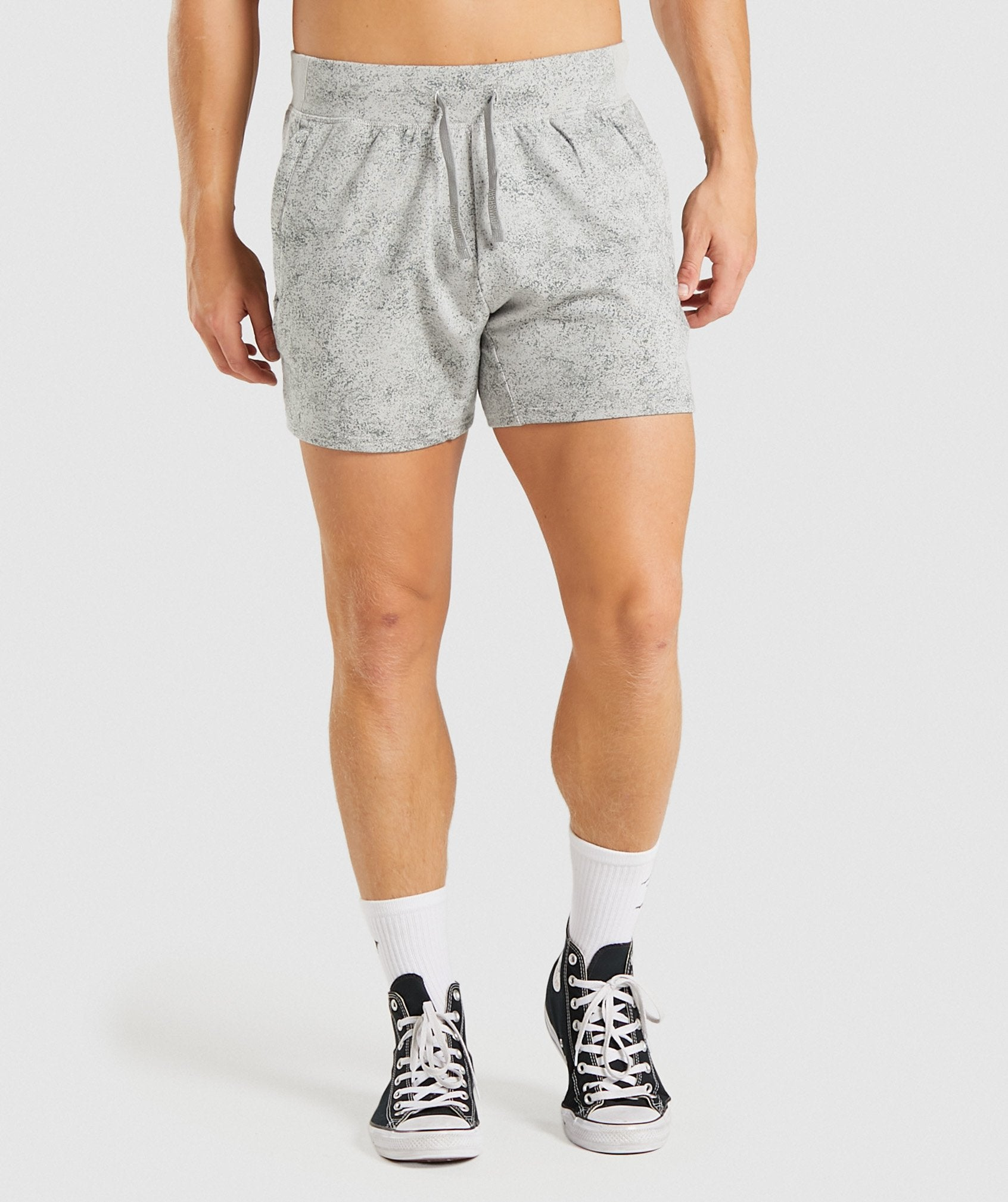 Classier: Buy Gymshark Chalk 5 Quad Shorts - Light Grey Print - Gymshark