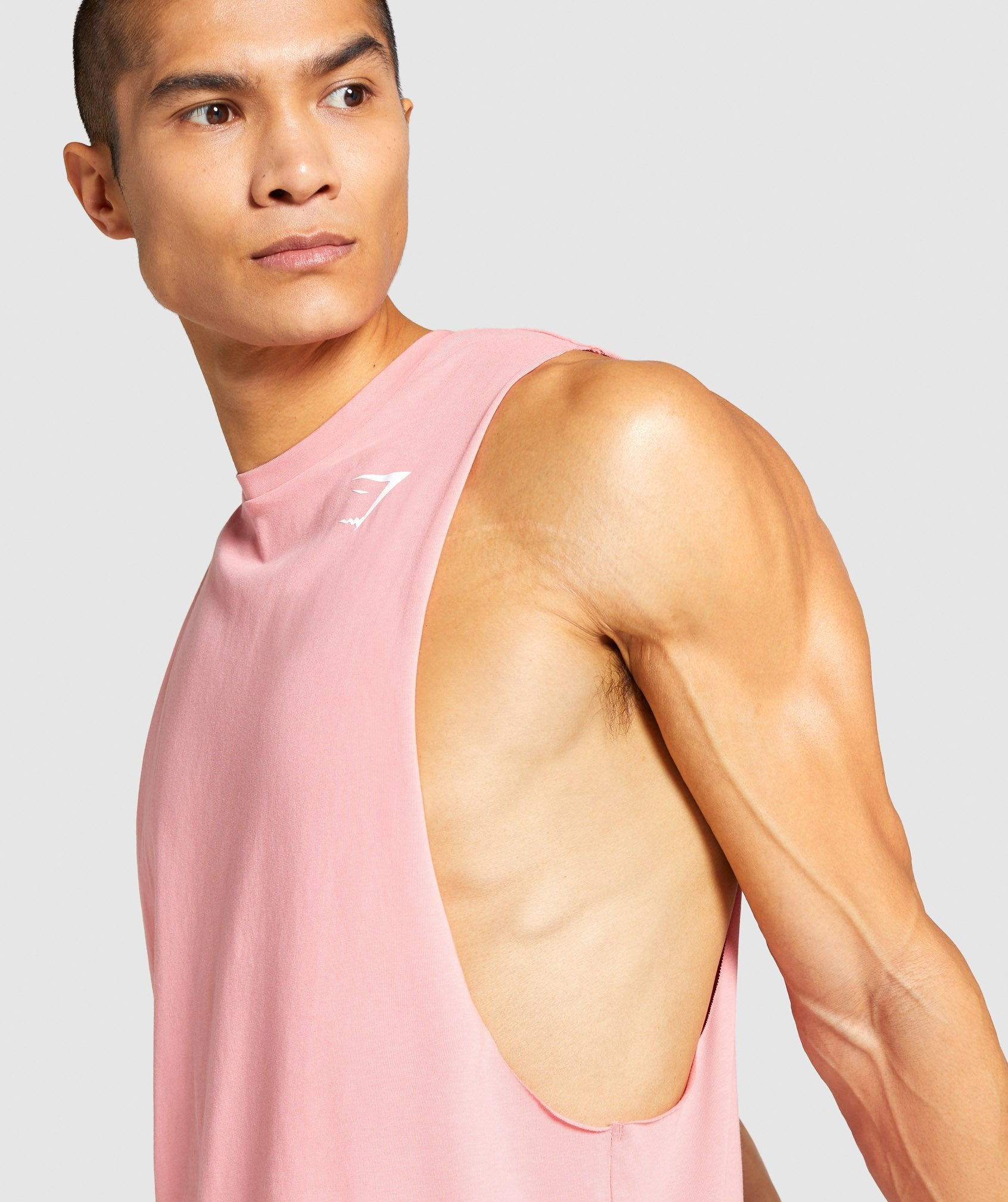Classier: Buy Gymshark Critical Drop Arm Tank - Coral - Gymshark