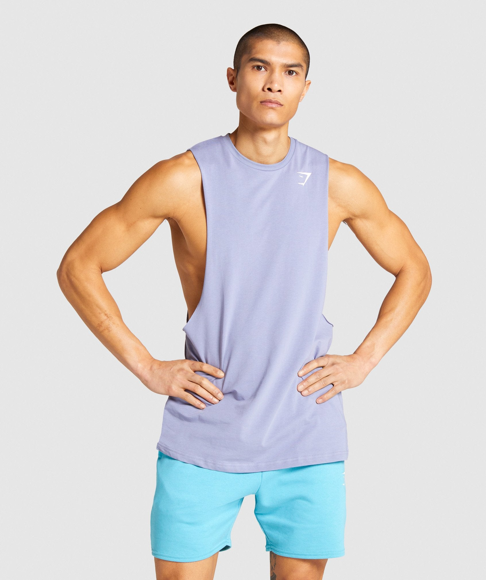 Classier: Buy Gymshark Critical Drop Arm Tank - Blue - Gymshark
