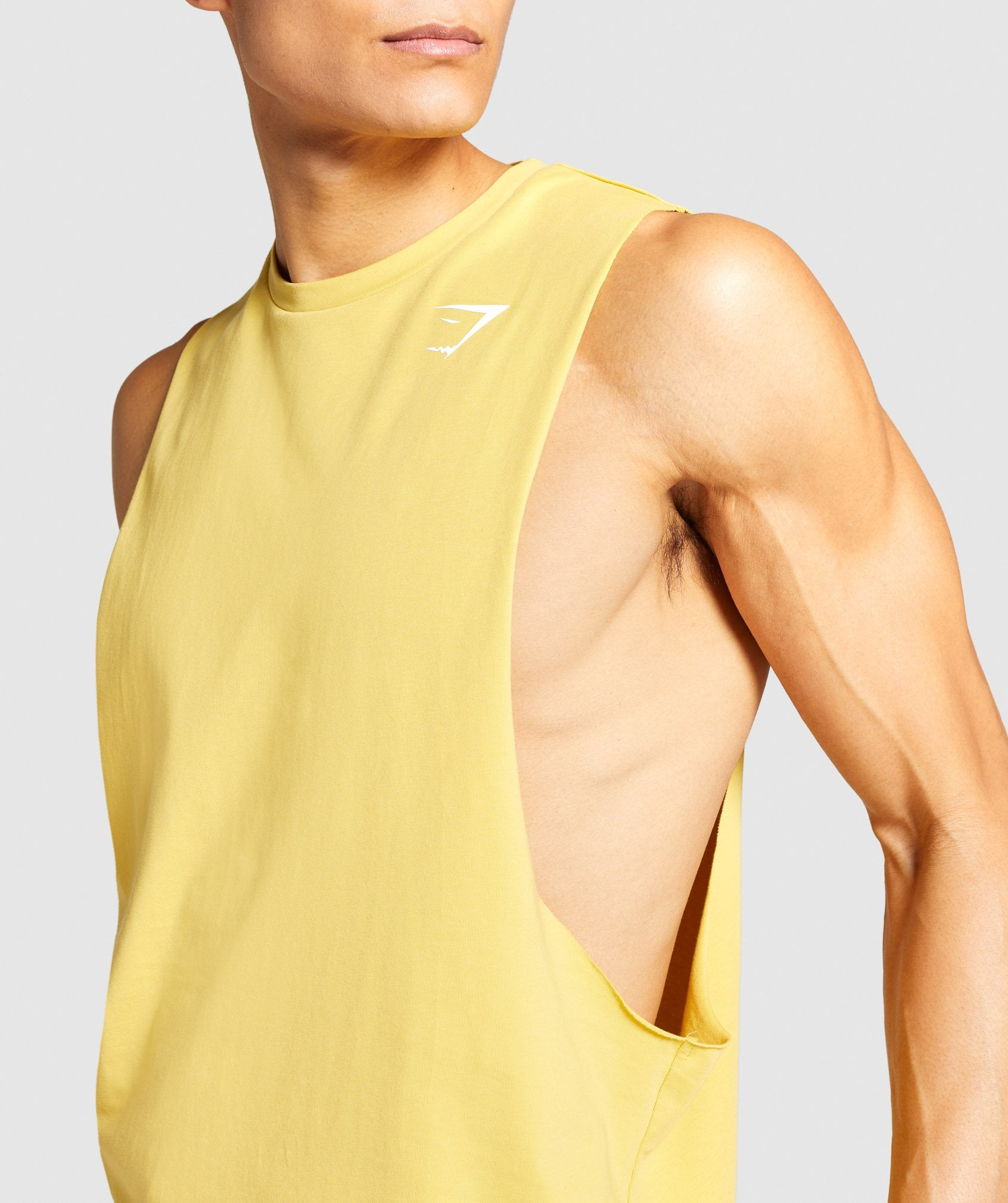 Classier: Buy Gymshark Critical Drop Arm Tank - Yellow - Gymshark