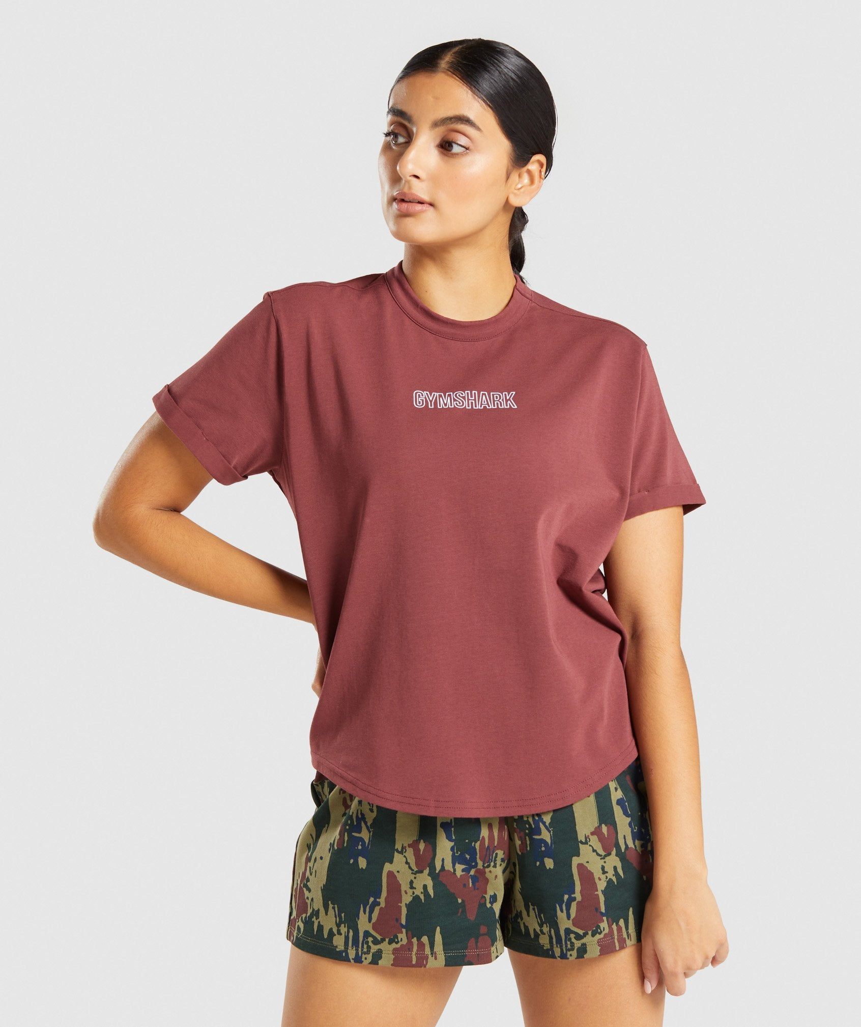 Classier: Buy Gymshark Distort Graphic T-Shirt - Brown - Gymshark