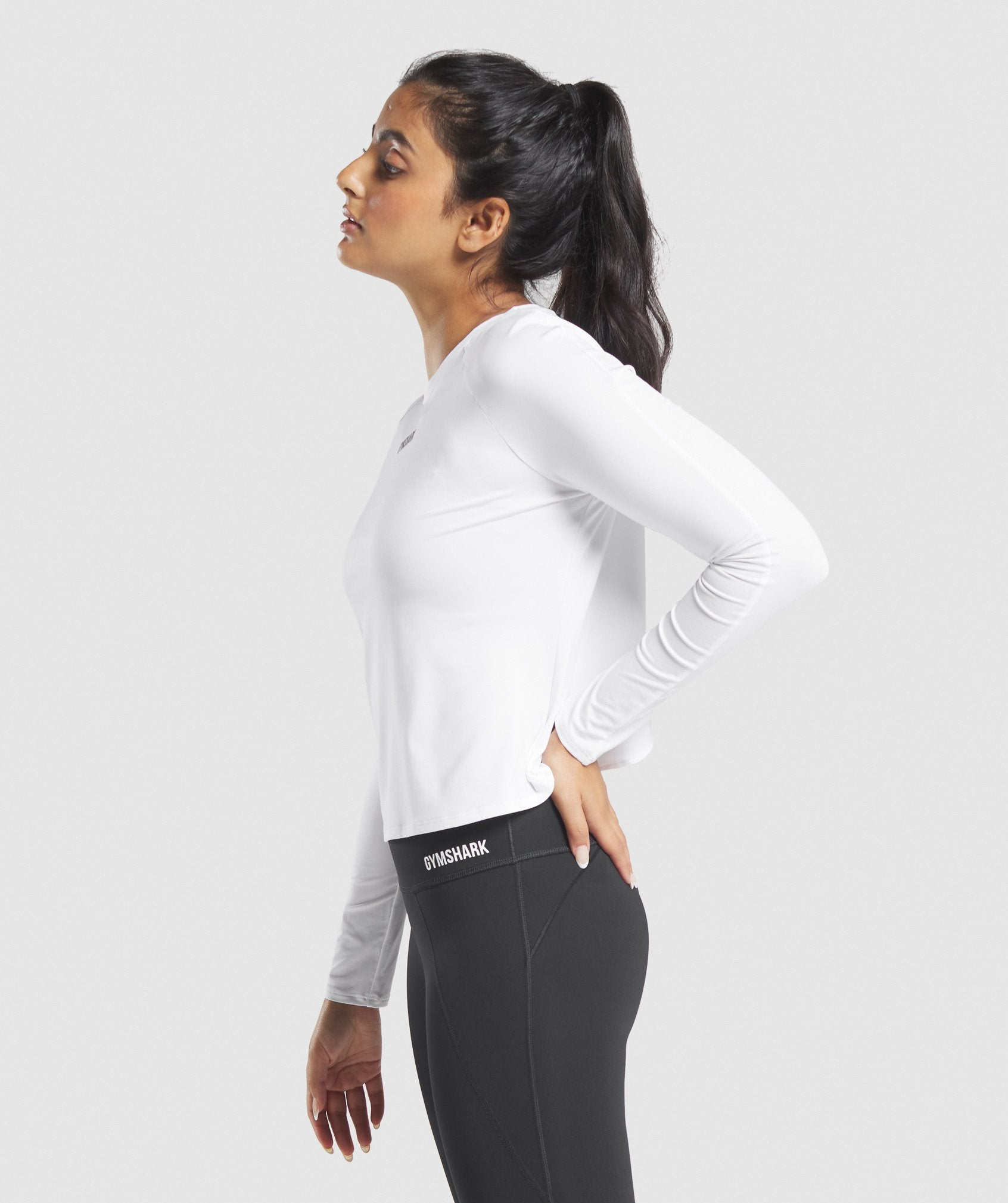 Classier: Buy Gymshark Euphoria Long Sleeve Top - White - Gymshark