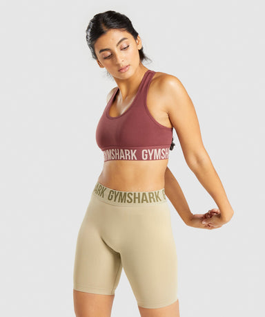 Classier: Buy Gymshark Fit Seamless Sports Bra - Brown/Taupe - Gymshark