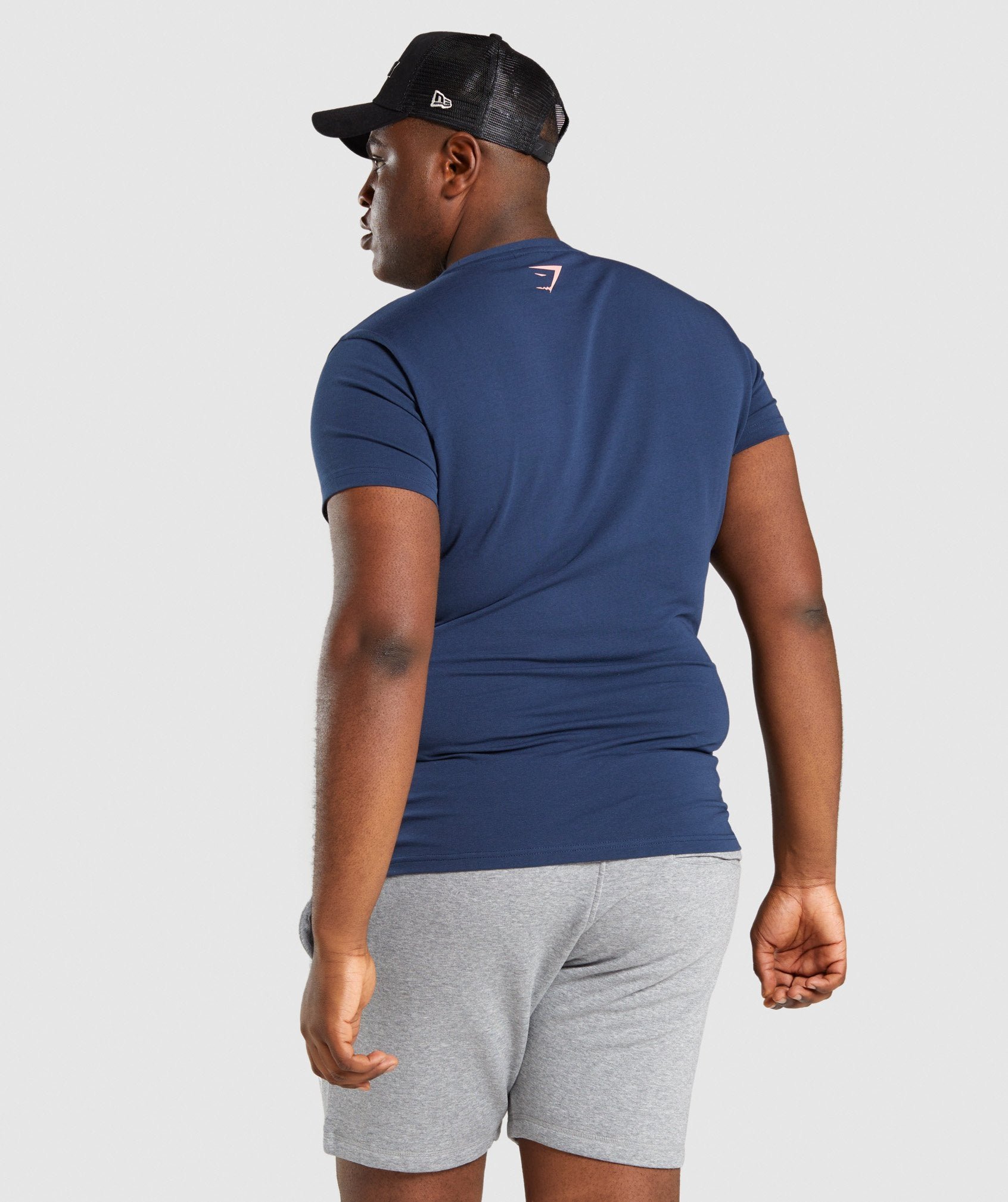 Classier: Buy Gymshark Logo Strip T-Shirt - Navy - Gymshark