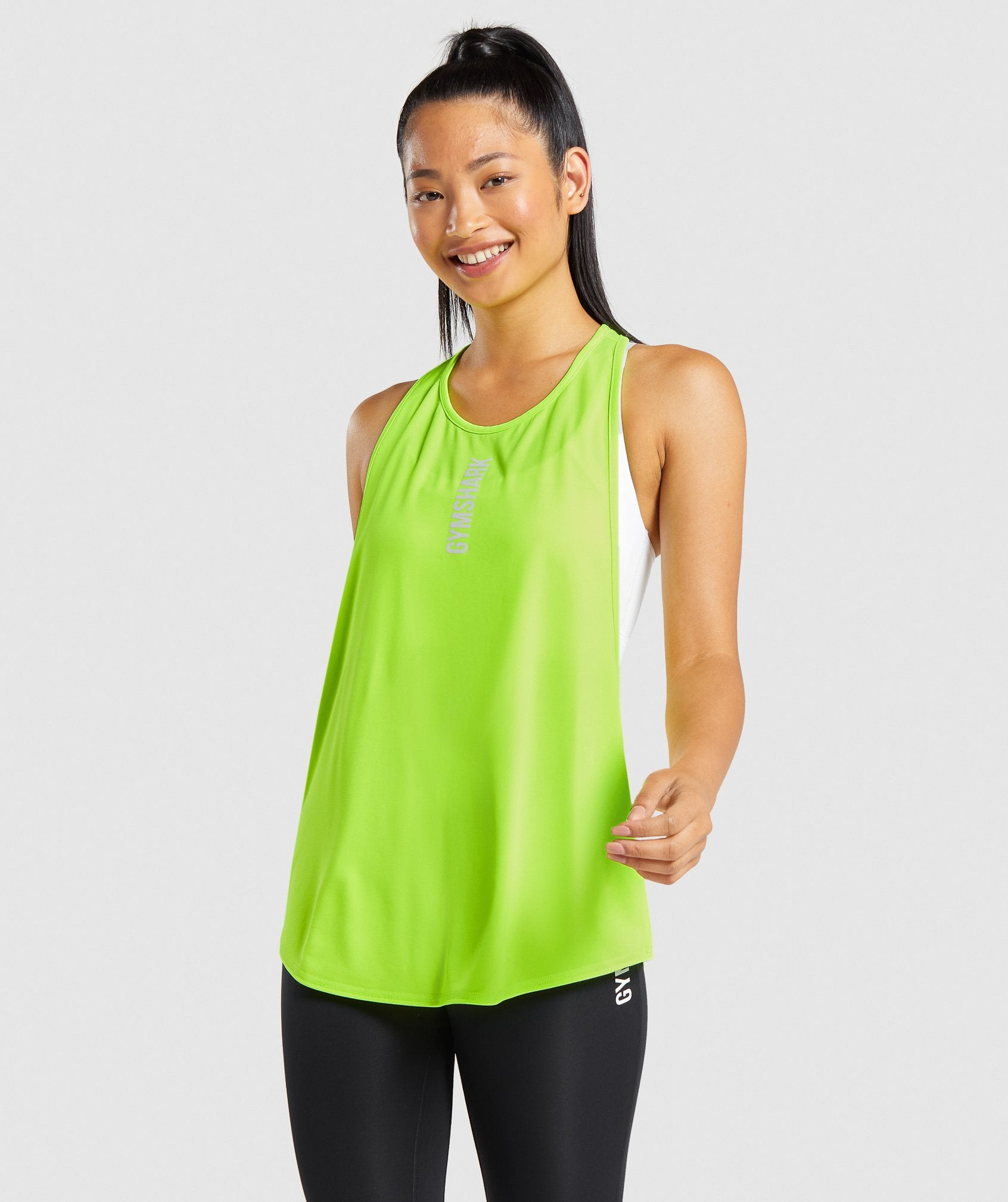 Classier: Buy Gymshark Pulse Drop Arm Tank - Green - Gymshark