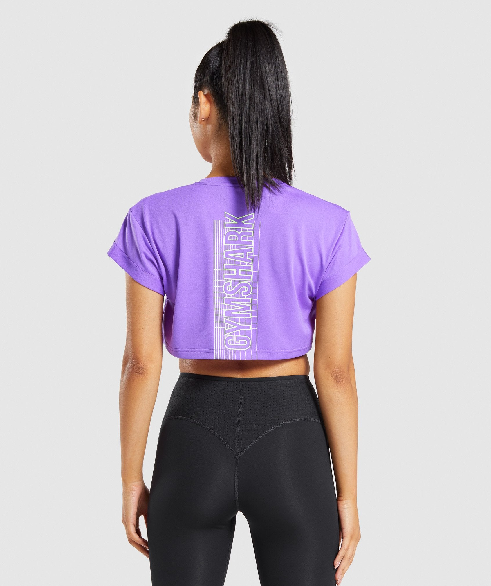 Classier: Buy Gymshark Pulse Graphic Crop Top - Purple - Gymshark