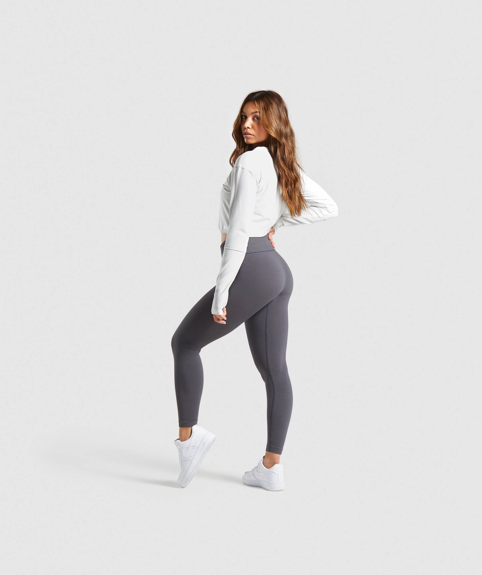 Classier: Buy Gymshark Power Down Leggings - Charcoal - Gymshark