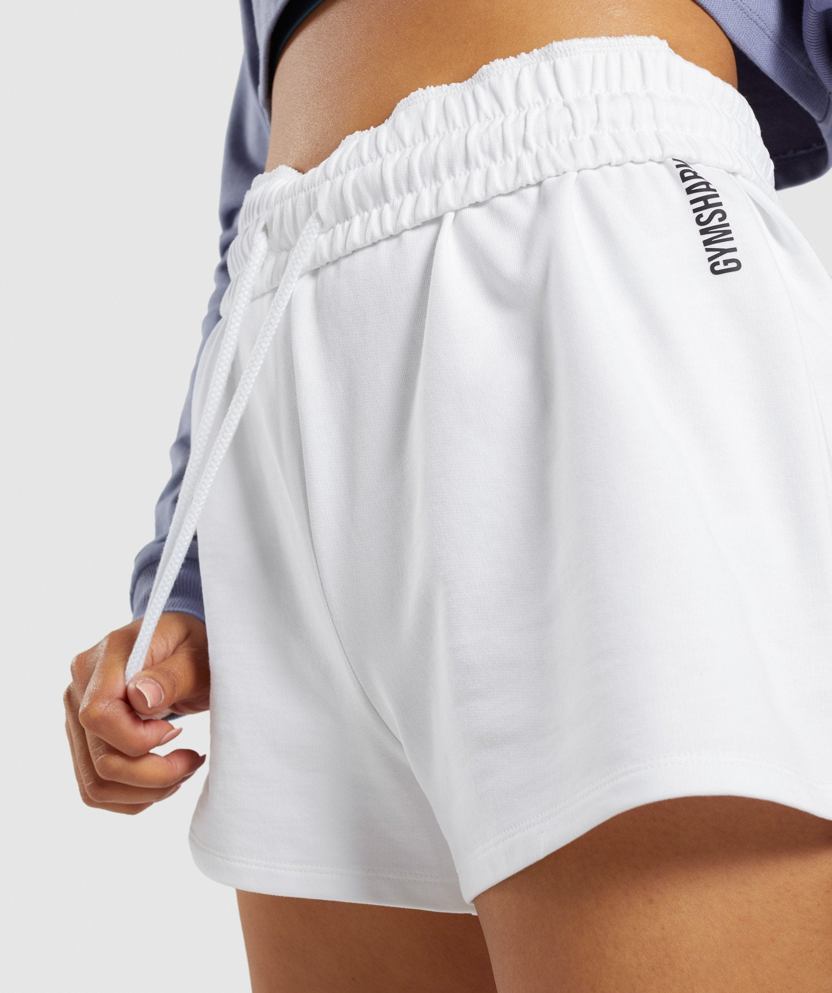 Classier: Buy Gymshark Slim Fit Throw On Shorts - White - Gymshark