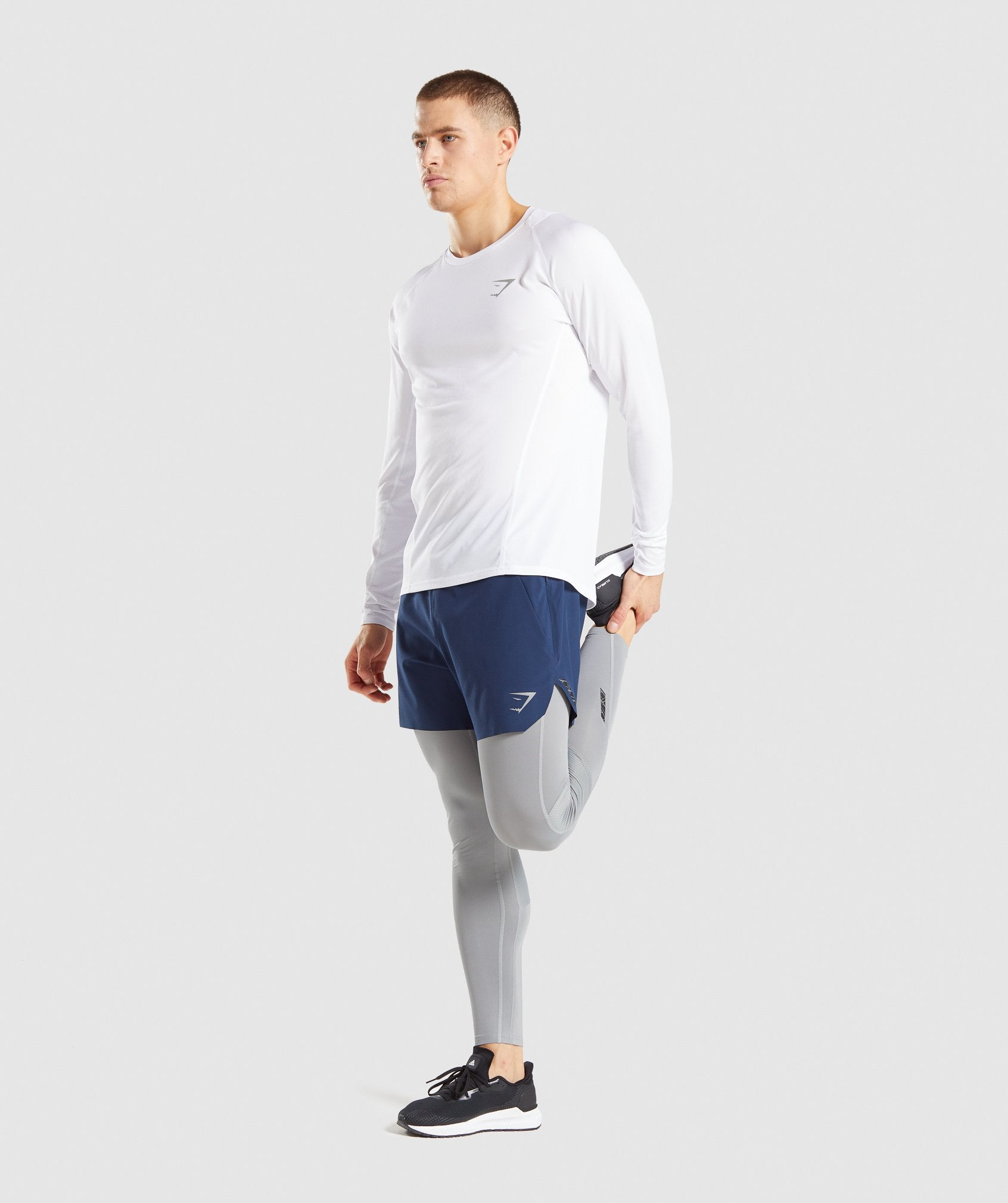 Classier: Buy Gymshark Speed Long Sleeve T-Shirt - White - Gymshark