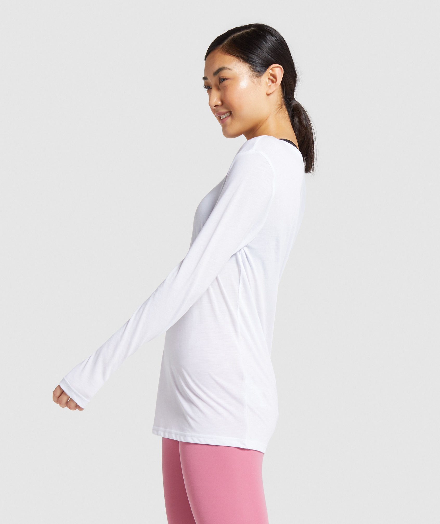 Classier: Buy Gymshark Training Oversized Long Sleeve Tee - White - Gymshark
