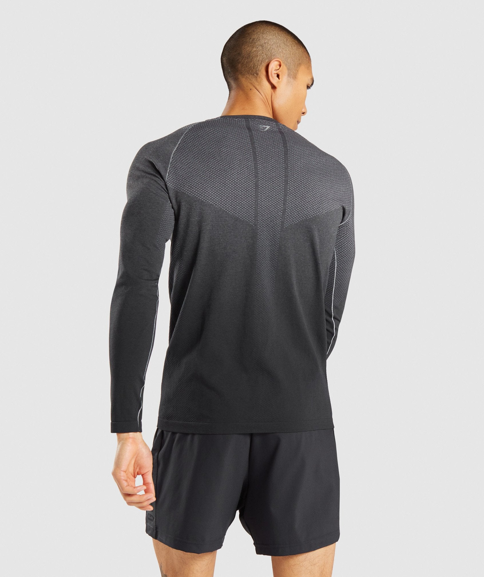 Classier: Buy Gymshark Vital Ombre Seamless Long Sleeve T-Shirt - Smokey Grey Marl/Black - Gymshark