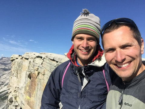 Dan Hickstein and I atop Half Dome two weeks before the rock fall