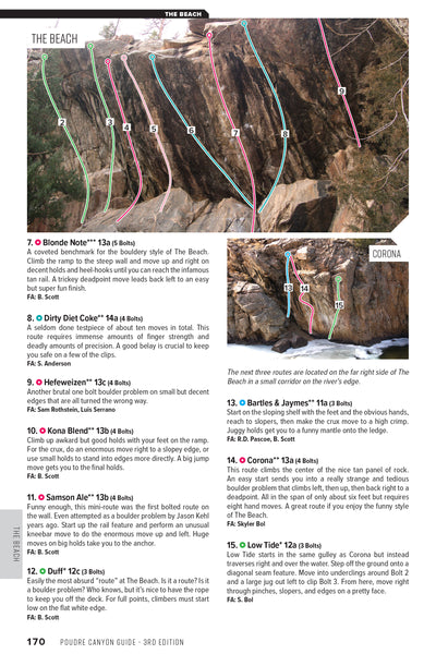 Poudre Canyon (Fort Collins) Rock Climbing Guidebook 3rd edition