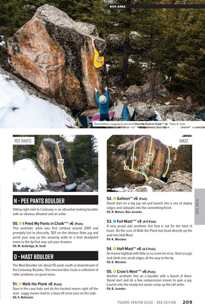 Poudre Canyon (Fort Collins) Rock Climbing Guidebook 3rd ed