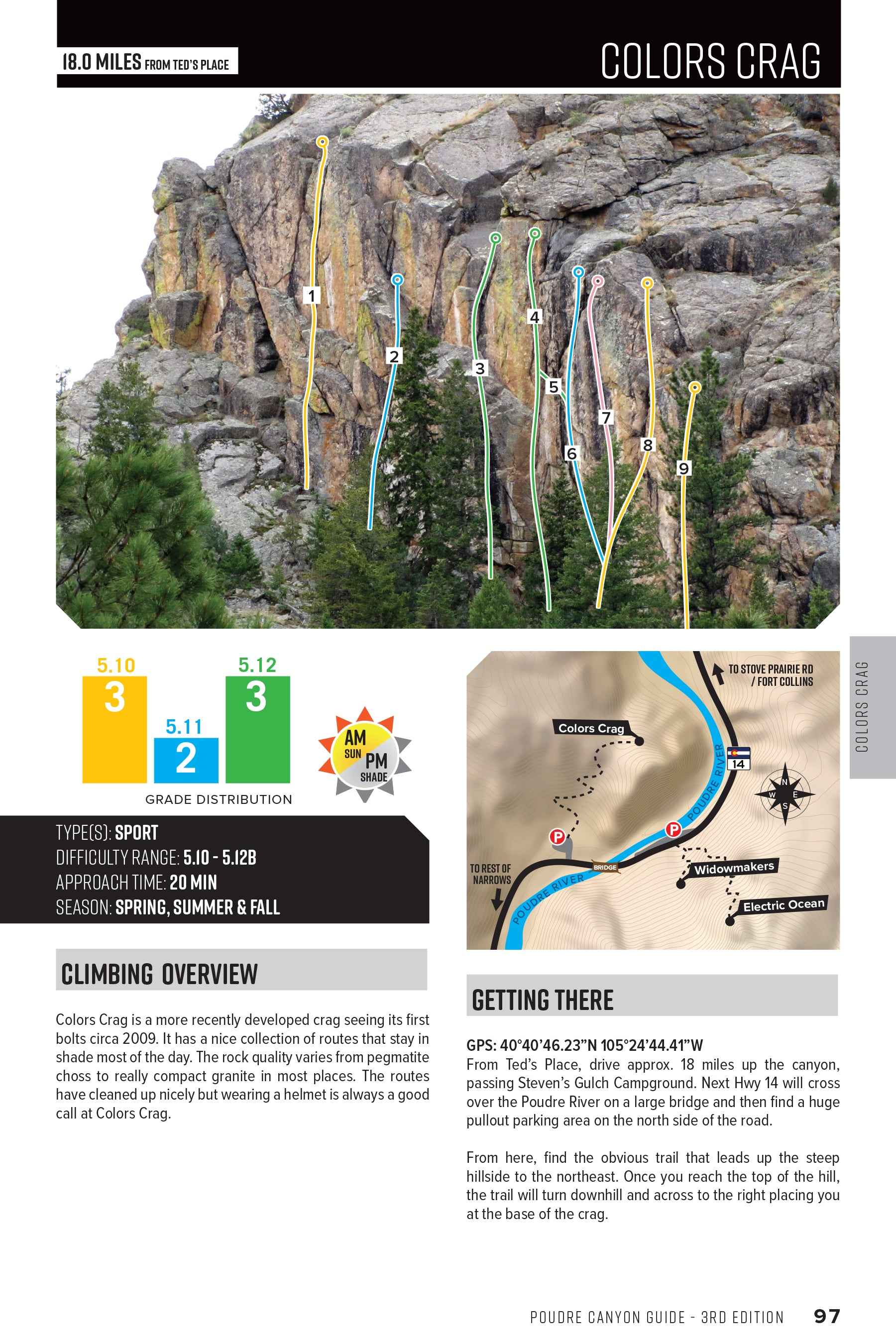 Poudre Canyon (Fort Collins) Climbing Guide 3rd Edition