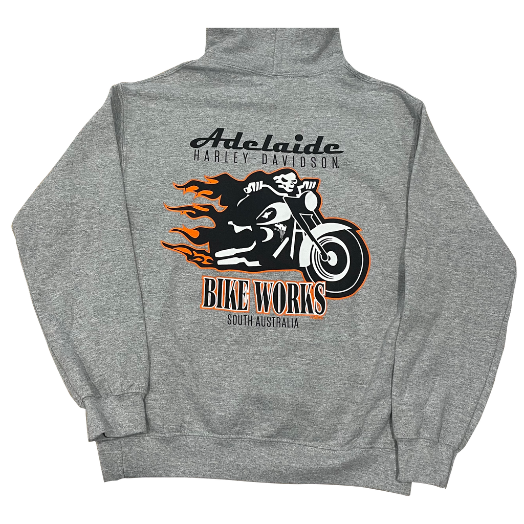 Adelaide Harley-Davidson Bike Works Skeleton Hoody - Grey