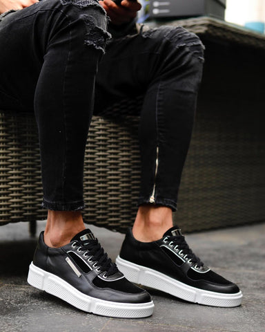 Black Contemporary Sneakers